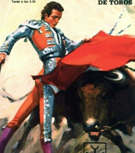 Paco Alcalde Bullfighting Plaza De Toros Vintage Poster Print Art El Cordobes