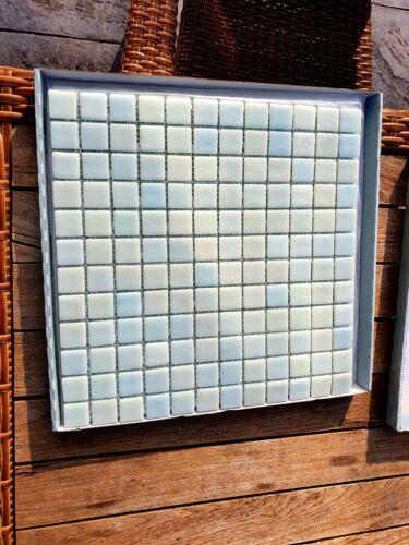 Aqua Mosaic Glass Wall Tiles 4 Sheets Sealed Homebase Brand Made in England