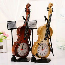 Creative Violin Shaped Alarm Clocks Bedside Alarm Clock for Kids Students Yellow