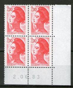 TIMBRE-N-2274-NEUF-XX-LUXE-COIN-DATE-DU-2-06-83-LIBERTE-DE-GANDON