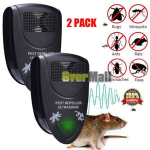 2xUltrasonic-Electronic-Anti-Mosquito-Mice-Insect-Pest-Bug-Repeller-Killer-Black