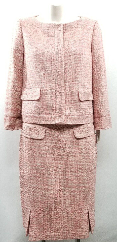 NWT Liz Claiborne Floral Therapy Two Piece Dress Suit 100% Silk Size 12P RT