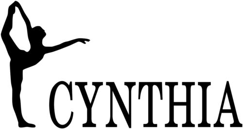 Ballet Girl Sticker Custom Dancing Decal Customized Your Kid/'s Name VINYL