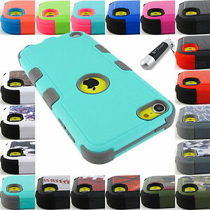 APPLE-IPOD-TOUCH-5-6-GEN-SHOCK-PROOF-TUFF-RUGGED-CASE-PROTECTIVE-COVER-STYLUS