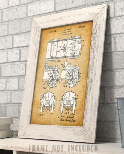 Peddle Car Patent Art Print Child/'s Room Decor 11x14 Unframed Patent Print
