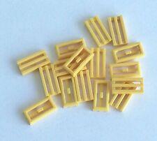 LEGO 6x Piastra Liscia Modificata Griglia Tile 1x2 BEIGE 2412 Lotto