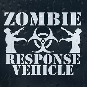 Funny-Zombie-Vehicle-Response-Car-Decal-Vinyl-Sticker-For-Panel-Bumper-Window