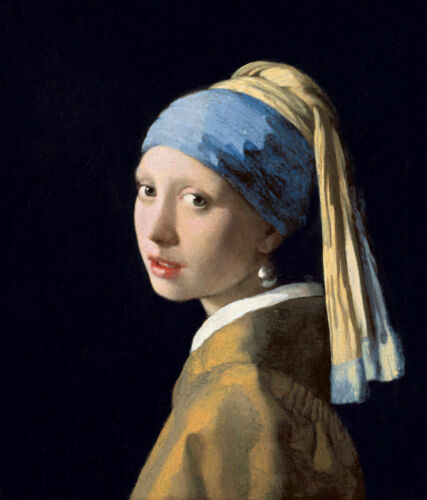 """The Girl with the Pearl Earing  by Johanne Vermeer  14/""""  Paper Print Repro"""