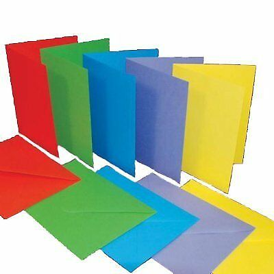 A6C6 size bright colours x 50 Craft UK blank greeting cards  envelopes
