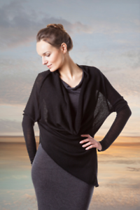 Cloud9Knitwear  Deep Valley Top made from 100% Extra Fine Italian Merino Wool