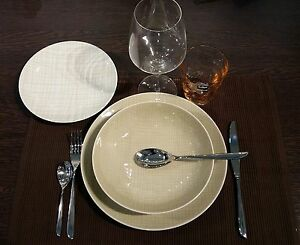 Rosenthal-Mesh-Colores-Crema-Linea-Vajilla-platos-18-piezas-x-6-Personas