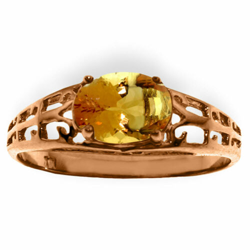 Details about  /Brand New 14K Solid Rose Gold Filigree Ring with Natural Citrine