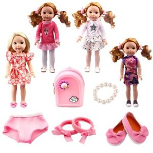 Doll Clothes  Fits 5 Wishers Wisher Dress Dolls Inch Fit Pink Seller Lsful Shoes