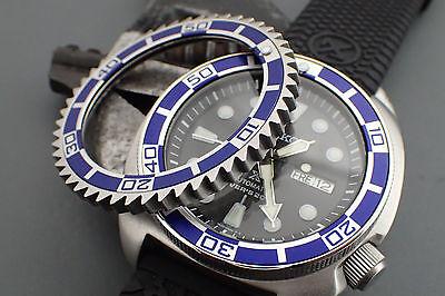 SEIKO NEW TURTLE SRP THE DODGER ONE - MARINE BLUE - ALU  BEZEL INSERT  X-4-MB | eBay