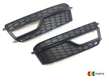 AUDI A5 13-15 NEW GENUINE FRONT S-LINE BUMPER FOG LIGHT GRILL LEFT+RIGHT SET