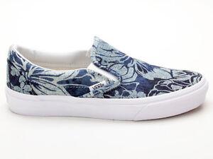 Details about Vans Classic Slip On VN0003Z4IEJ Indigo Tropical blau weiß