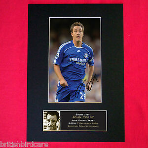 JOHN TERRY (CHELSEA) Autograph Mounted Photo Reproduction QUALITY PRINT A4 39
