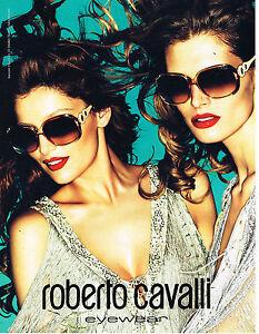 PUBLICITE ADVERTISING  2011   ROBERTO CAVALLI  haute couture collection optique