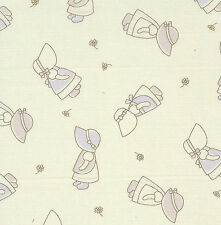 Fat Quarter Sunbonnet Sue Cotton Quilting Fabric- 50cm x 55cm - Cream / Ecru