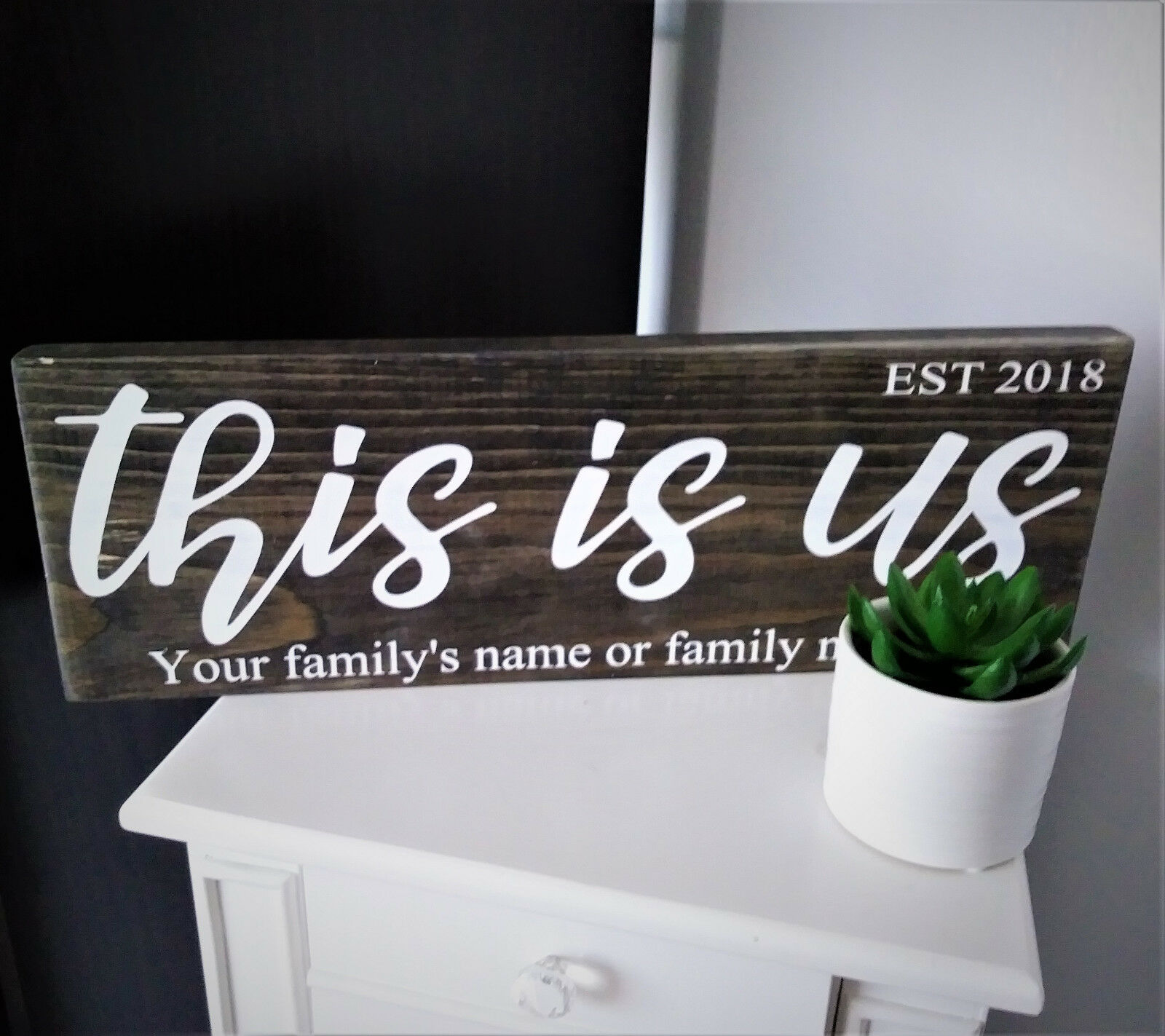 PERSONALIZED THIS IS US WOOD SIGN CHRISTMAS GIFT WEDDING GIFT HOUSE WARMING GIFT
