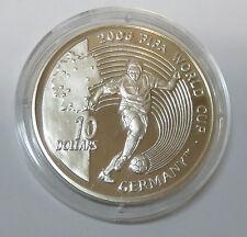 SIERRA LEONE 10 DOLLARS 2004 FIFA FUßBALL WM DEUTSCHLAND GERMANY 2006 SILBER PP
