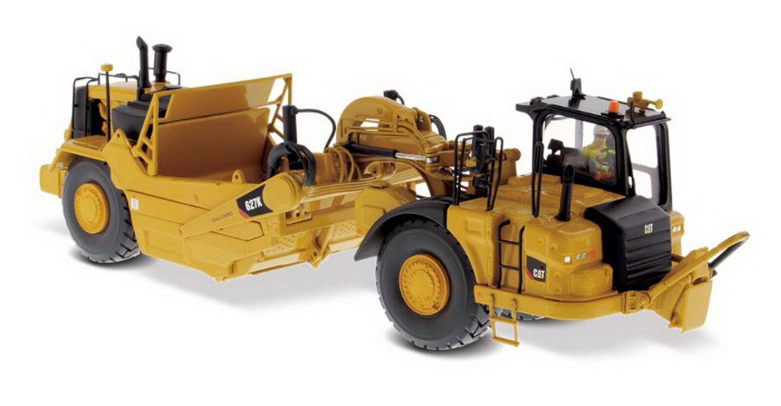 1 50 DM CATERPILLAR CAT 627K tracteur à roues-Grattoir Diecast Model  85921
