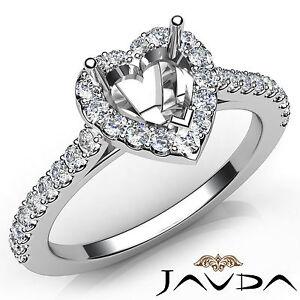 Heart-Cut-Diamond-Semi-Mount-Prong-Setting-Engagement-Ring-18k-White-Gold-0-5Ct