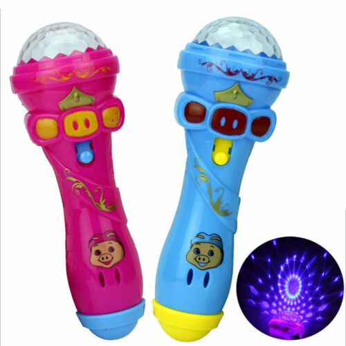 1Pcs LED Projection Microphone Flash Microphone Light-emitting Baby Kids Toy