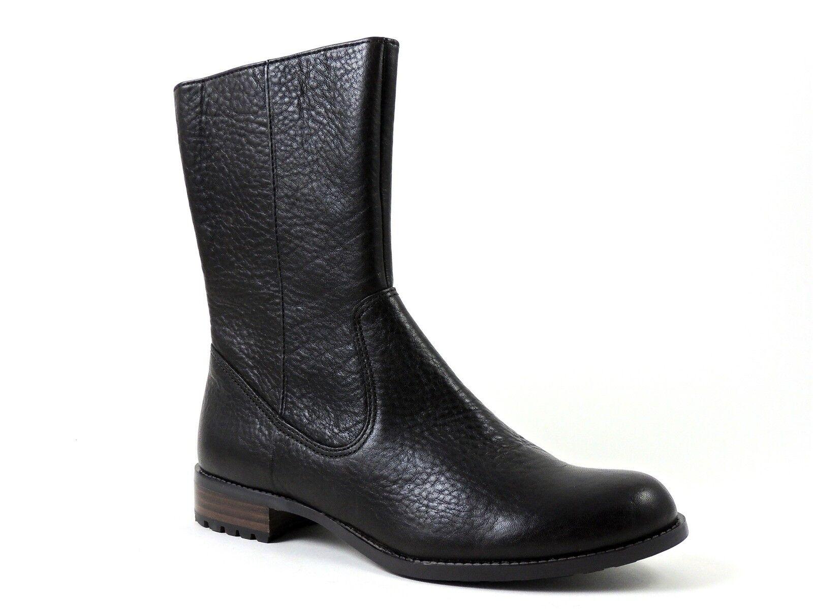 Calvin Klein Women's Terra Flat Boots Dark Brown Tumbled Leather Size 5 M