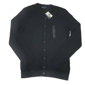 Gap-Womens-Sweater-Cardigan-Black-Long-Sleeve-Crew-Neck-Buttons-New-Size-M-NEW