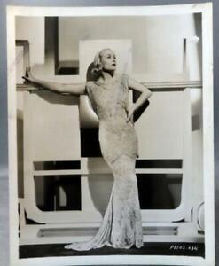 SEXY-CAROLE-LOMBARD-ORIGINAL-COLUMBIA-PORTRAIT-PHOTO-EXQUISITE-1930s