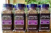4 Jars Trader Joe's 21 Seasoning Salute Spice Each 2.2 Oz Free Priority Mail