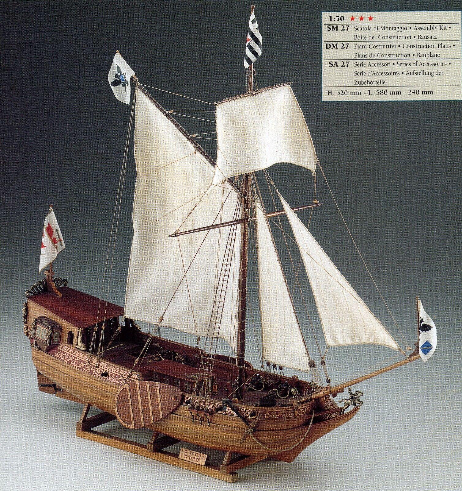 Corel sm27 Boat Model Yacht gold Boat Ship Brandenburger Scale 1 50