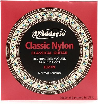 D'Addario EJ27N Nylon Guitar Strings (Student Set Clr/Silver Norm Gtr)