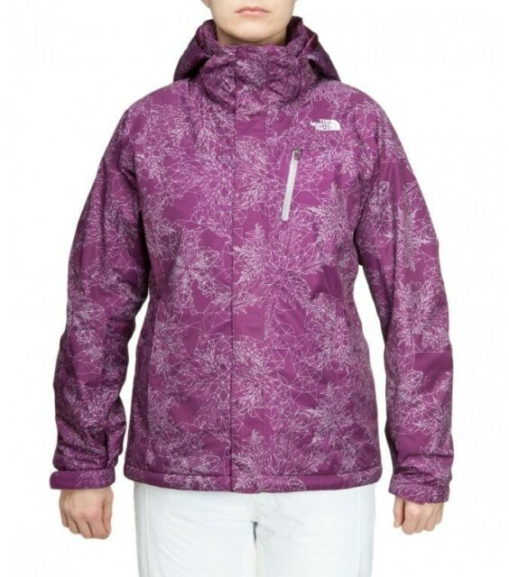 d95fb4f062 The North Face Women Purple Snow Cougar Print Snowboarding Jacket ...
