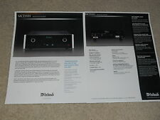 McIntosh MCD301 SACD Brochure, 2 pages, 2006, Specs, Articles, Info