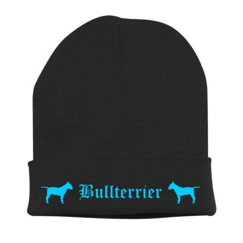 Beanie BERRETTO A Maglia Stick Motivo Bad Bull Terrier cani siviwonder