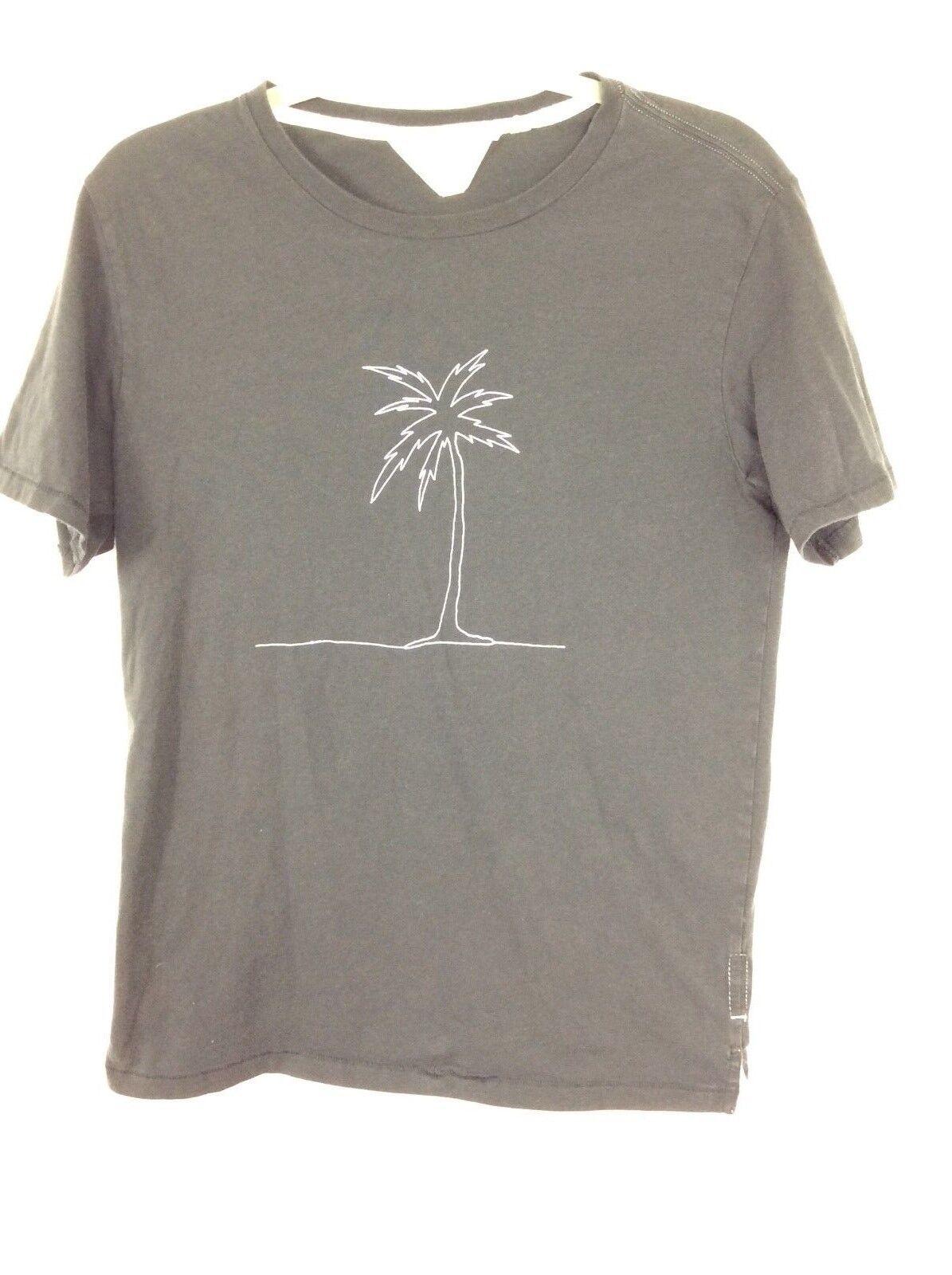 Rag & Bone mens crew neck tee Größe Small schwarz Palm tree 100% cotton