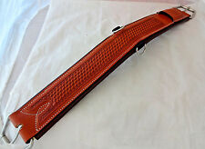 Billy Cook Leather Cinch Padded Western Straight 32 Horse Basket Stamped CHN New
