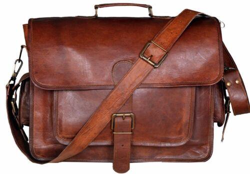 Mens Genuine Vintage Leather Messenger HandBag Laptop Briefcase Satchel Bag New