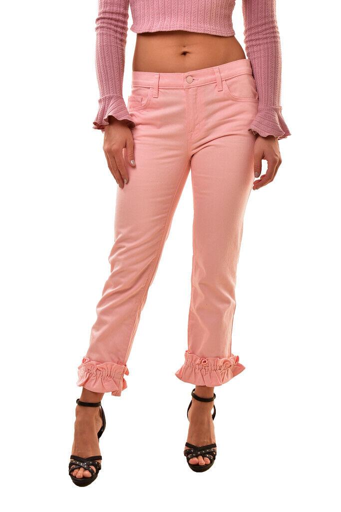 J BRAND Women's Simone SE9020T142 Ruffle Jeans Pink Size 24 RRP  308 BCF811