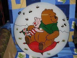 Plafoniere Bambini Cameretta : Lampadario winnie de pooh plafoniera in vetro lampada cameretta