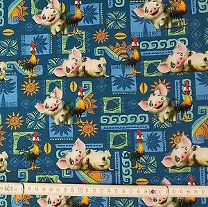 0-5m-Baumwolljersey-Jersey-Disney-Vaiana-Pua-dunkelblau-Stoff-Swafing