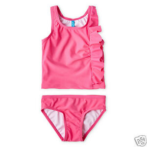 16d8e88f8a Joe Fresh Pink One-Piece Ruffled Swimsuit Girls Size 1Y Msrp $32.00 New