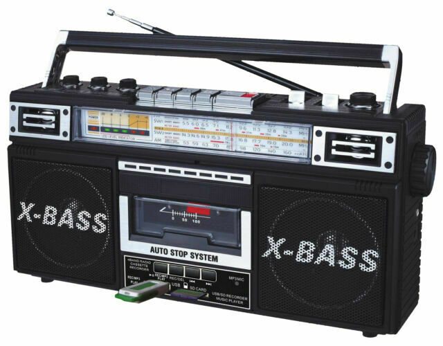QFX J-22UBK ReRun X Radio and Cassette to MP3 Converter - Bl