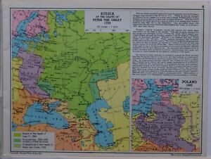 1961-SOVIET-MAP-RUSSIA-AT-DEATH-OF-PETER-THE-GREAT-ARMENIA-POLAND-1667-CAUCASUS