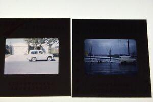 Vintage-35mm-Color-Slides-Of-A-60-039-s-Car-Lot-Of-3
