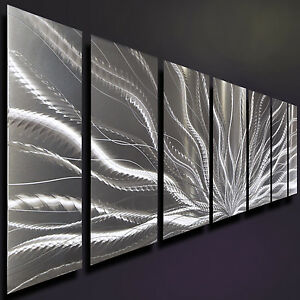 High Quality Image Is Loading Silver Metal Wall Art Modern Metal Wall Decor