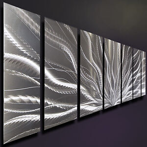 Exceptionnel Image Is Loading Silver Metal Wall Art Modern Metal Wall Decor