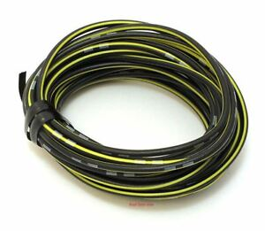 Oem Colored Electrical Wire 18 Gauge 13 Roll Black Yellow Stripe Ebay